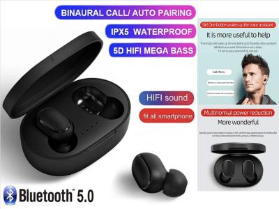 A6S AirDots, Bluetooth 5.0, Auriculares con Cancelación de Ruido, Auriculares Inalámbricos TWS, Auriculares AirDots con Micrófono, Impermeable IPX5, Tiempo Uso 3 horas, Compatible Android y IOS
