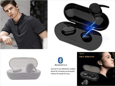Auriculares Inalámbricos, Bluetooth 5.0 + EDR, Impermeable IPX4, Cancelación Ruido, Tiempo Uso 4-8 horas, Alta Fidelidad, Deportivos, Compatible Android y IOS