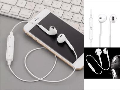 Auriculares Inalámbricos TWS, Bluetooth 4.1, Banda para Cuello, Impermeable IPX5, Cancelación Ruido, Tiempo Uso 3-5 horas, Estéreo, Deporte, Gaming, Compatible Android y IOS