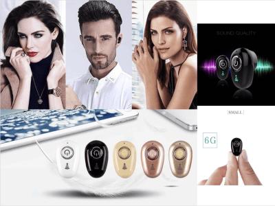 Mini Auriculares Inalámbricos S650 TWS, Bluetooth 4.1, Impermeable IPX4, Cancelación Ruido, Estéreo, Tiempo Uso 3-5 horas, Compatible Android y IOS