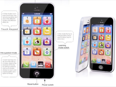 Y-Phone, Juguete Educativo para la primera infancia. Ideal para el desarrollo de la parte derecha del cerebro