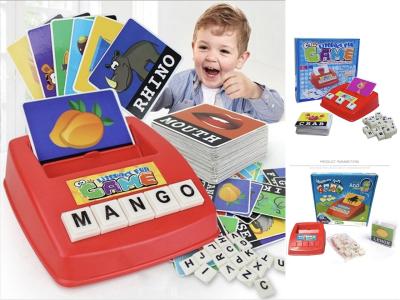 Juguetes educativos, aprendizaje de palabras en inglés, juego de ortografía de mesa para niños, educación temprana