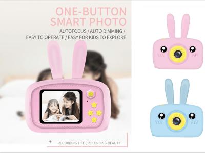 Mini cámara de juguete para niños Full HD 1080P. Video digital portátil. Foto Pantalla de 2 pulgadas con juego