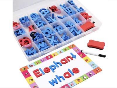 Puzle de figuras de Números y Letras. Símbolos magnéticos con zócalo. Kit de educación preescolar para niños. Juguete educativo para niños