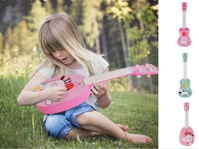Divertido ukelele ligero, instrumento de música, guitarra para niños, juguete para niños, juego escolar, educación, regalo de cumpleaños, de Navidad, etc
