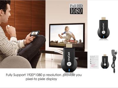 Receptor Inalámbrico Wifi para IOS y Android, TV Stick 1080P, Conecte su Móvil, Tablet, PC, MAC, etc. a su TV o monitor y disfrute de pantalla grande