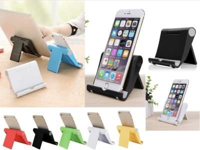"""Soporte Flexible Plegable Multifunción de Escritorio para Teléfono Móvil y Tablet, Compatible con Móviles y Tablet de 4""""-10"""", Material Antideslizante, 7 Colores Disponibles"""