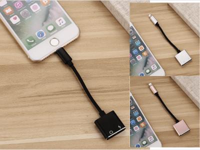 Cable Adaptador Divisor 2 en 1 Cargador y Auriculares al mismo tiempo, Doble Conector para iPhone, Escucha Música y Carga tu Móvil, 4 Colores Disponibles