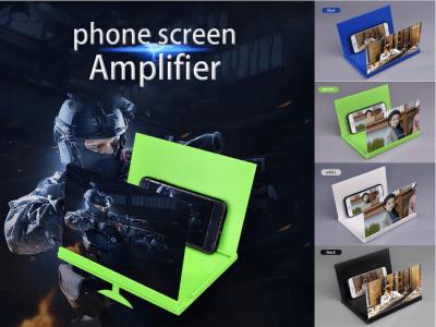 """Soporte Amplificador HD, Lupa de Pantalla de Teléfono Móvil, Proyección 3D de 8"""" para Teléfono Móvil, para Escritorio, Plegable, Alta Definición, Protege tu vista"""