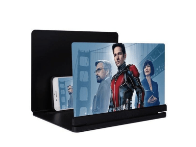 """Soporte Amplificador HD, Lupa de Pantalla de Teléfono Móvil, Proyección 3D de 14"""" para Teléfono Móvil, para Escritorio, Plegable, Alta Definición, Protege tu vista"""
