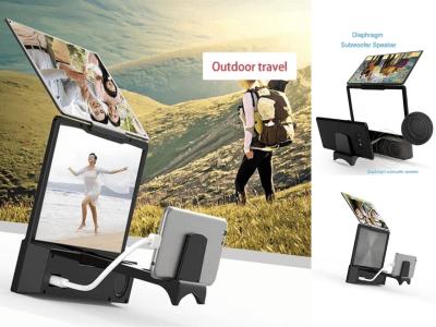 """Amplificador Pantalla Teléfono Móvil, Soporte Escritorio 3D HD de 8,5"""" con Altavoz Subwoofer Speaker Bluetooth incorporado, Disfruta de tus Películas, Videos, Deportes, etc., Protege tu vista"""