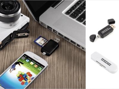 Lector Tarjetas Multifunción USB y Tipo C, Adaptador SD y Micro SD, Lector de Tarjetas para Teléfono Móvil y Ordenadores, 16GB, Fácil de llevar a contigo siempre
