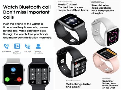 Reloj inteligente 6 ECG PPG, Compatible IOS y Android, Monitor de Frecuencia Cardíaca, Llamada Bluetooth, 1.75 pulgadas, Pantalla Táctil Completa, Control Temperatura