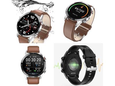 Reloj inteligente L13 para hombres, Comptaible IOS y Android, Resistente al Agua IP68, Reloj Inteligente Deportivo Impermeable ECG PPG, Bluetooth, llamadas, Presión Arterial, Ritmo Cardíaco, Rastreado
