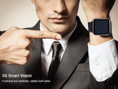 Reloj Inteligente X6 para Hombre, Compatible IOS y Android, con Tarjeta SIM TF, Cámara, Smart Watch Bluetooth con Cámara, Pantalla Táctil y muchas cosas más
