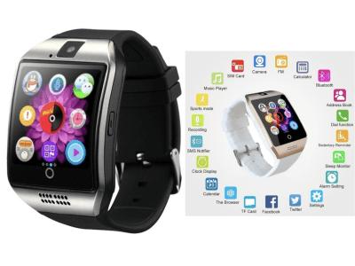 Reloj Inteligente Q18, Pantalla OLED Táctil Curvada, Compatible Android y IOS, Teléfono, Cámara, Resistente al Agua, Tarjeta SIM, Manos Libres, Control Actividad Deportiva, Música, y mucho más