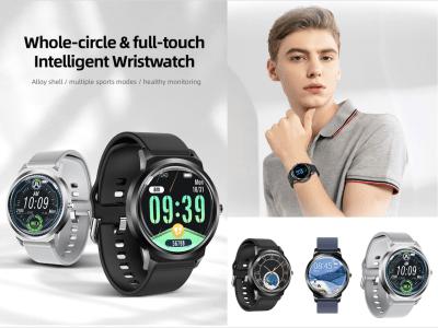 Reloj Inteligente Pantalla táctil Redonda, Cuerpo Completo de Aleación de Zinc, Bluetooth 5.0, Ideal para Mujeres y Hombres, Reloj inteligente PRO, Email, FM Radio,  Compatible Android y IOS