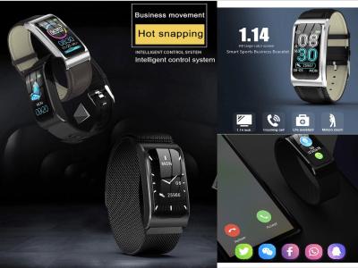 Pulsera Inteligente para Hombres y Mujeres, Frecuencia Cardíaca, Monitor Sueño, Presión Arterial, Resumen de Ejercicios, Pantalla Color, Impermeable IP67, Bluetooth, Compatible Android y IOS