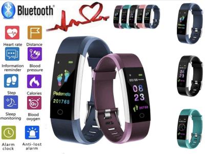 Brazalete Inteligente, Monitor Presión Arterial, Ritmo Cardiaco, Control Actividad Deportiva, Bluetooth, Compatible Android y IOS, Podómetro, Resistente Agua IP67, Pantalla OLED, Notificación Llamadas