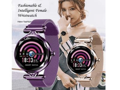 Brazalete Inteligente Mujer, Resistente Agua IP68, Monitorización Ritmo Cardíaco, Sueño, Podómetro, Cuerpo Acero Inoxidable, Compatible Android y IOS, Bluetooth, Cámara 3MP, Email, MP3, WhatsApp