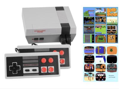 Consola de Juegos de TV Retro Familiar, Incorpora 620 Videojuegos Clásicos. Reproductor Portátil de Juegos 8 Bits. Dos mandos incluidos. Disfruta recordando felices momentos de la infancia