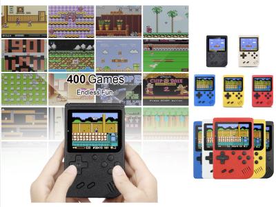 """Consola de Mano de 3"""" con 400 juegos en 1 solo dispositivo. Reproductor de Videojuegos Retro Impermeable IP67, Puede jugar donde quiera o conectar a la TV, Ideal para niños, Disponible en 5 colores"""
