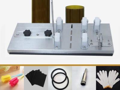 Kit de cortador de botellas de vidrio, cortador de botellas, máquina de bricolaje para cortar botellas de vino, licor, cerveza, whisky, champán, botella redonda, ovalada,  kit de accesorios