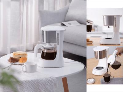 Cafetera de 5 tazas con filtro reutilizable, cafetera pequeña de goteo , cafetera compacta
