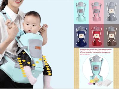 Portabebés, Asiento de cadera para recién nacidos, portabebés con capucha, ergonómico, convertible, cara adentro y cara afuera, transporte frontal y trasero