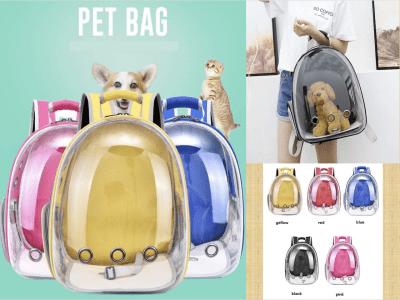 Mochila con burbujas para mascotas para gatos, perros pequeños, conejitos, etc. Mochila de cápsula transparente ventilada para viajes, senderismo y uso al aire libre