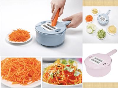 Espiralizador de verduras 10 en 1, cortador y triturador, rallador en juliana multiusos de cocina con protector y separador de clara de huevo, cortador de verduras y alimentos bajos en carbohidratos