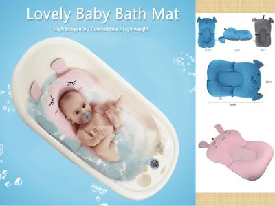Cojín de baño para bebés, bañera para bebés, soporte de asiento de baño para bebé recién nacido, almohadilla de baño cómoda para bebés, tumbona de soporte para bebés de 0 a 6 meses