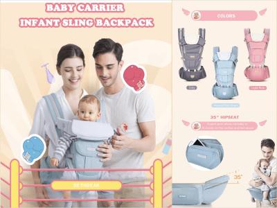 Portabebés ergonómico 3 en 1, posiciones ajustables cómodas, se adapta a todos los bebés recién nacidos, portabebés en la cadera, todas las estaciones, perfecto para viajes y compras