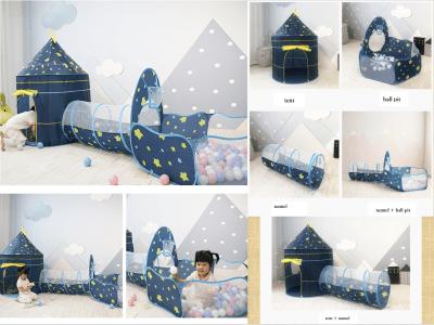 Piscina de bolas para niños 3 en 1, carpa y túnel, carpas emergentes para niños, interior, piscina de bolas para niños pequeños con túnel, carpa de playa para niños