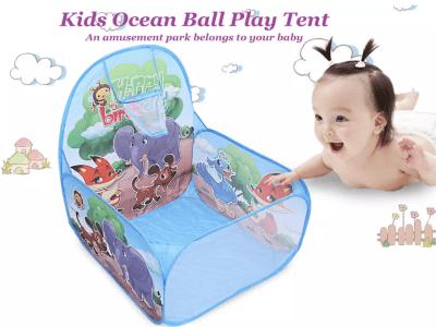 Tienda para niños pequeños, campo de juegos para bebés/niños con aro de baloncesto, piscina de bolas (bolas no incluidas), bolsa de almacenamiento con cremallera