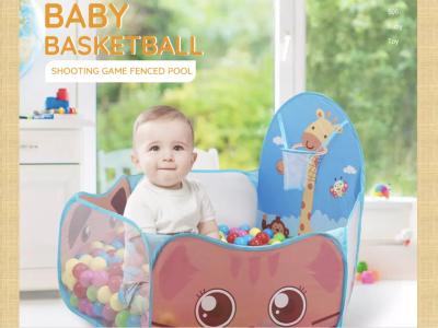 Carpa emergente para juegos de pelota de interior para niños, piscina portátil y divertida con canasta de baloncesto, gran juguete para niños pequeños, pelotas no incluidas