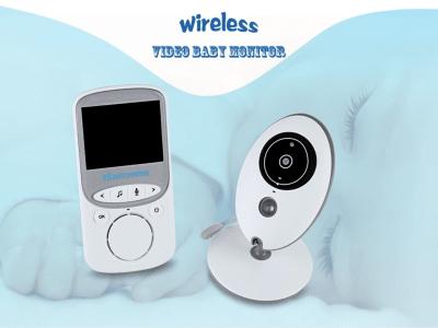 Monitor de video para bebés inalámbrico LCD de 2,4 GHz, con cámara y audio, visión nocturna, luz nocturna, voz, canción de cuna, conversación bidireccional, detección de temperatura