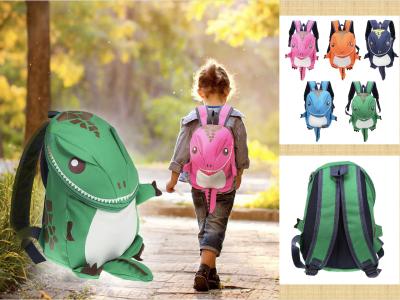 Mochila infantil de dinosaurio de dibujos animados para niños, bolsa de jardín de infantes, preescolar, impermeable para niños y niñas