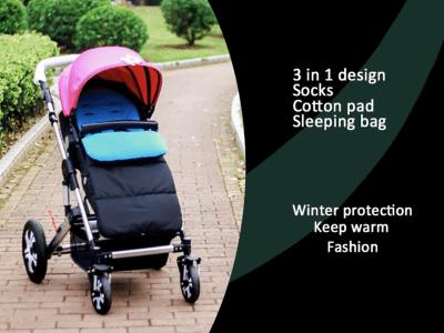 Saco de dormir para bebé desmontable 3 en 1, tapete universal para cochecito, funda para saco, bolso con bandera para cochecito, impermeable, resistente al viento y al frío