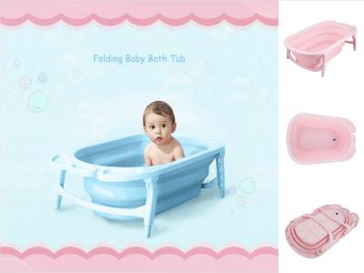 Bañera plegable para niños, barril de baño para sentarse o reclinarse, bañera grande para bebés