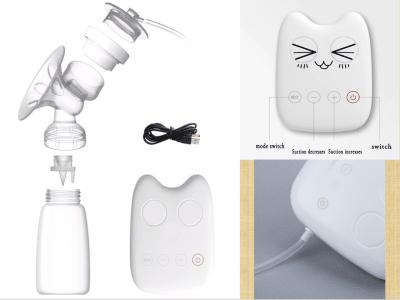 Extractor de leche automático manos libres, USB eléctrico inteligente, sin BPA, extractor de leche portátil eléctrico, recargable, extractor de leche portátil, extractor de leche materna