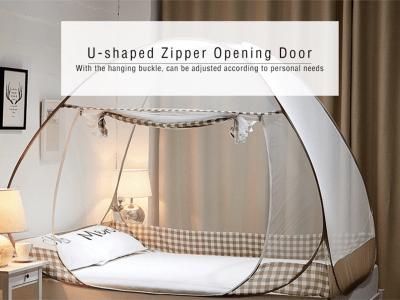 Mosquitera encima  la cama con dosel, mosquitera portátil de viaje, mosquitera plegable para cama, mosquiteras fácil, tienda emergente con mosquitera