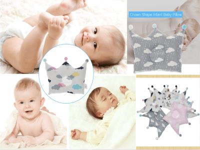 Almohada de bebé para dormir, Almohada para moldear la cabeza para la prevención del síndrome de cabeza plana, Almohada infantil de espuma viscoelástica 3D para bebés y niños