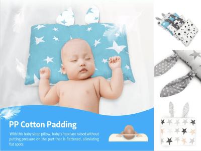 Almohada para bebé para moldear la cabeza con espuma viscoelástica de primera calidad, evita el síndrome de cabeza plana, Diseño ergonómico para dormir boca arriba y soporte para la cabeza