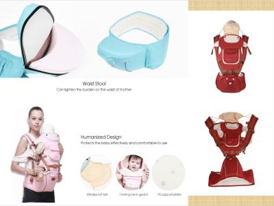Portabebés ergonómico 360° suave, fácil de poner, 6 posiciones cómodas, amamantamiento, se adapta a los recién nacidos, niños pequeños, asiento de cadera, malla de aire transpirable, 4 estaciones