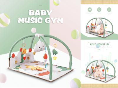 Baby Tapete de juego, visual, auditivo, táctil, tapete de juego de desarrollo temprano cognitivo, juguetes para bebés y niños pequeños, piano de pie de gimnasio con música para bebés