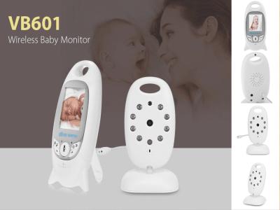 Monitor de videovigilancia para bebés inalámbrico con visión nocturna, conversación bidireccional, pantalla LCD, monitoreo de temperatura, canciones de cuna incluidas
