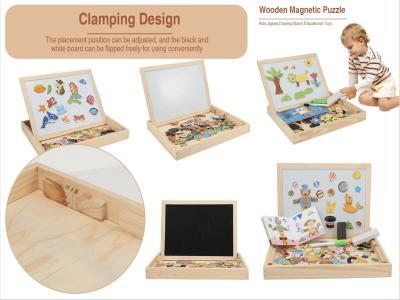 Juguetes de madera, Rompecabezas magnéticos, Juegos de madera para niños, Juguetes educativos de aprendizaje de doble cara para niños