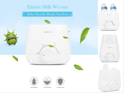 Calentador de biberones, esterilizador, calentador de leche, calentador rápido de alimentos, descongelar comida, calentador de alimentos para bebés, control de temperatura preciso, sin BPA