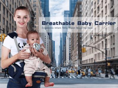 Asiento de cadera para bebé, taburete de cintura portabebés para niños, bebés, niños pequeños, hebilla de correa ajustable, bolsillo, almacenamiento interior suave y grande